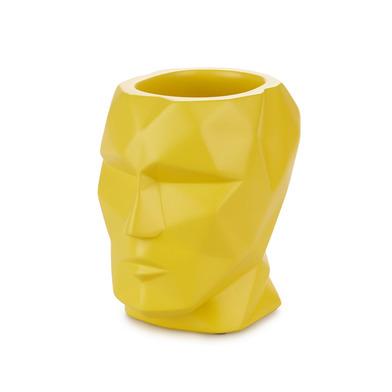Balvi Portalápices The Head Color amarillo Cabeza Silueta geométrica Cemento 12x8,4x11,5cm