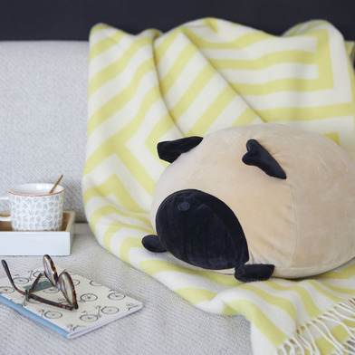 Balvi Cuscino Carlin Colore Marrone Forma di cane soffice e morbido Poliestere