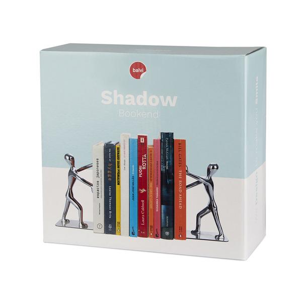 Balvi Bookend Shadow Chrome Plated colour Set of 2 bookends Zinc