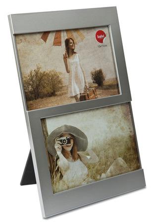 Balvi - Marco Dijon 2x 10x15 plateado plástico