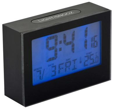 Balvi - Réveil Brick LCD noir 2xAAA incl