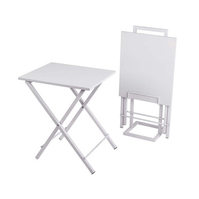 Balvi - Set mesas auxiliares Lina blanco