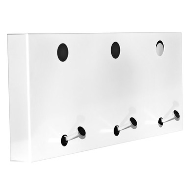 Balvi - Colgador pared Dot x3 blanco