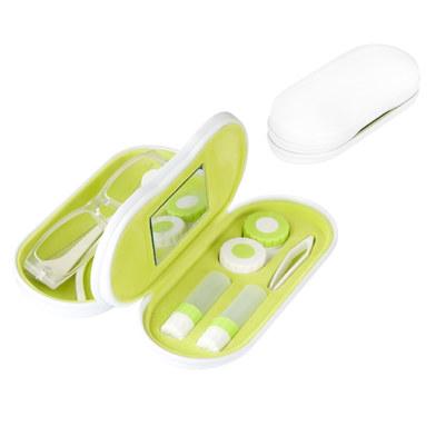 Balvi - Twin estuche para gafas y lentillas blanco con espejo incorporado