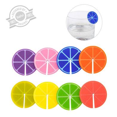 alvi Marca copas Fruit Party Set de 8 unidades Marcacopas o marcavasos Ideal para reuniones, fiestas