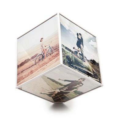Balvi - Kube marco giratorio para 6 fotos de 10x10cm