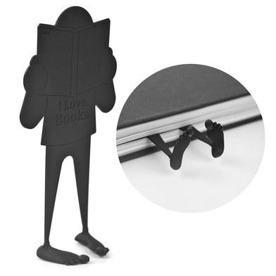 Balvi - Book Crush marcapáginas con diseño divertido de personaje aplastado por el libro