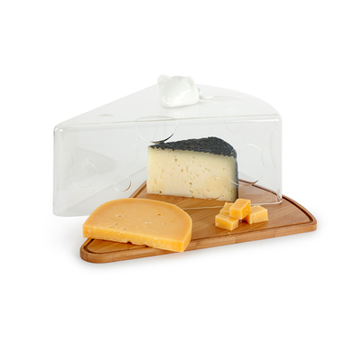 alvi Quesera I Love Cheese En forma de porción de queso Con figura de ratoncito de cerámica blanca B