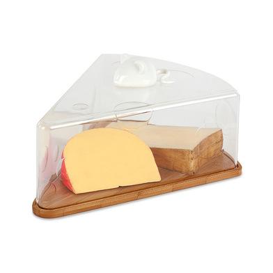 alvi Porta formaggi I Love Cheese A forma di trancio di formaggio con un topolino ceramica bianca Ba