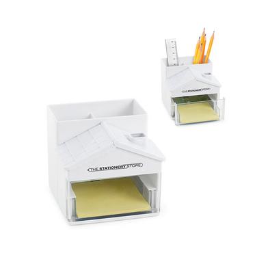 alvi Organizador escritorio The Statiionery Store Color blanco Con notas adhesivas y 10 clips Plásti