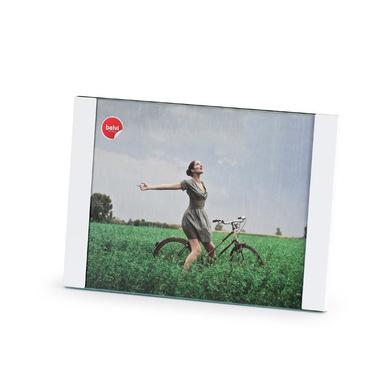 Balvi Marco Padova Color blanco Tamaño de foto: 13x18cm Para sobremesa o para colgar Aluminio