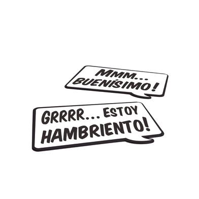 alvi Individual Speak Up! set 2 manteles individuales con frase Idioma> español Madera DM/plástico P