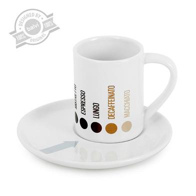 Balvi - Taza espresso Barista x4 cerámica