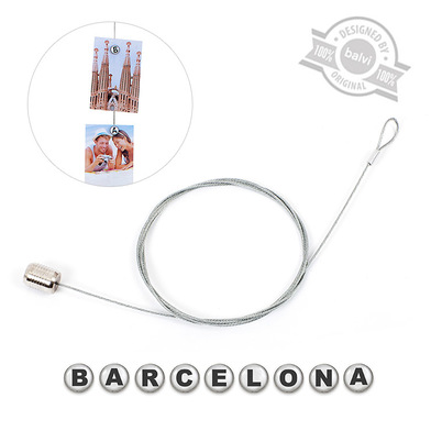 alvi Photo holder Barcelona Silver Letters colour 9 photos, letters magnetic Barcelona Acrylic/steel