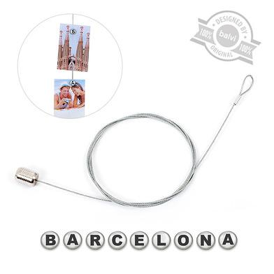 alvi Sujeta fotos Barcelona Color plateado letras para 9 fotos, letras magnéticas Barcelona Acrílico