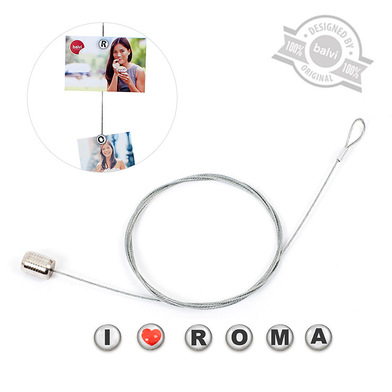 alvi Photo holder Roma Silver Letters colour 6 photos, letters magnetic Barcelona Acrylic/steel 14 x