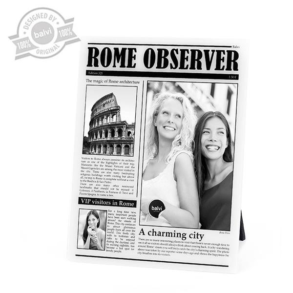 Balvi Marco Rome Observer Color Blanco de fotos de viajes personalizado Roma Acrílico 23x18x0,8 cm