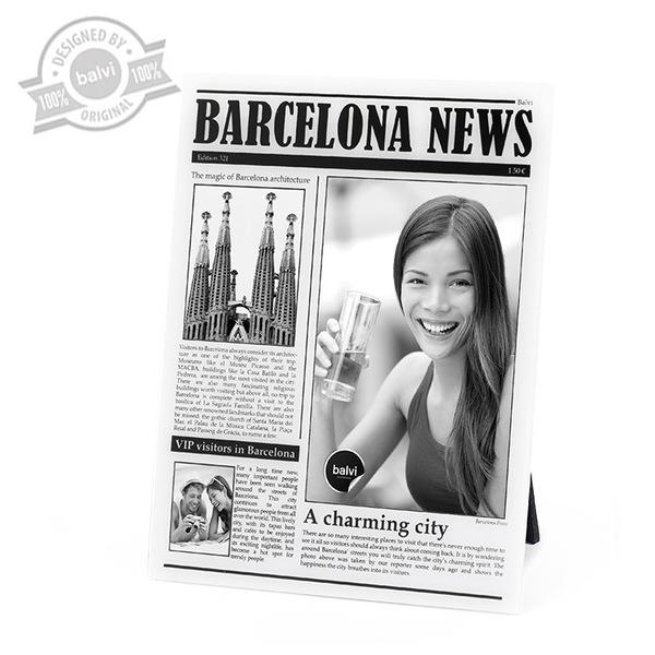 alvi Marco Barceona News Color Blanco de fotos de viajes personalizado Barcelona Acrílico 23x18x0,8