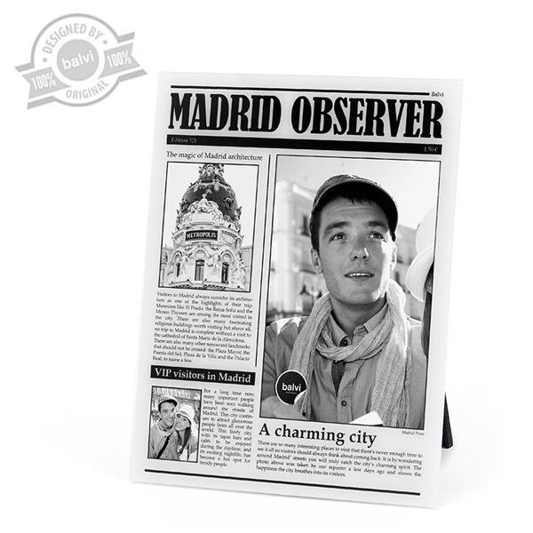 alvi Marco Madrid Observer Color Blanco de fotos de viajes personalizado Madrid Acrílico 23x18x0,8 c