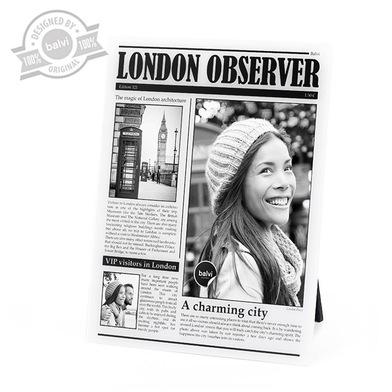 alvi Marco London Oveserver Color Blanco de fotos de viajes personalizado Londres Acrílico 23x18x0,8
