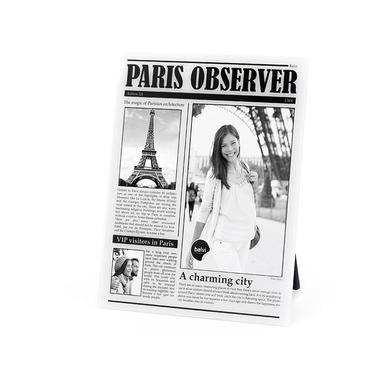 Balvi Marco Paris Observer Color Blanco de fotos de viajes personalizado Paris Acrílico 23x18x0,8 cm