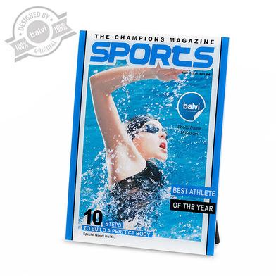alvi Marco Sports Color azul marco de fotos originales Diseño deportivo natación para pared y sobrem