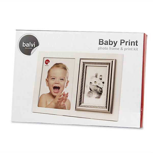 Balvi - Marco & kit impresión Baby Print 13x18 madera