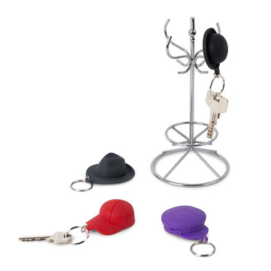 Balvi - LLaveros con soporte Chapeau! metal/silicona
