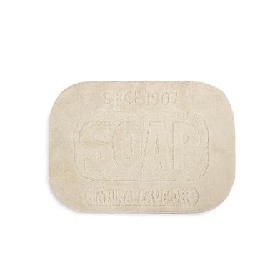 alvi Alfombra baño Soap Color beige original alfombra ducha en forma de pastilla de jabón Estilo vin