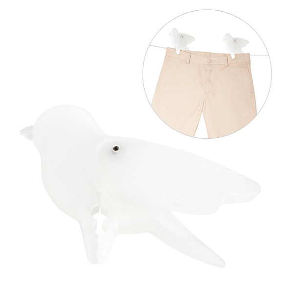 alvi Pinza ropa Birdie Set de 10 colgadores Diseño original en forma de pájaro Plástico PP 5,8x8,5x1