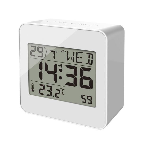 Balvi Sveglia Block Colore bianca Reloj despertador Plastica ABS 7,2x7,2x3,5 cm