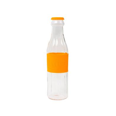 alvi Botella Soda Color naranja Botella de agua de cristal original En forma de botella de soda Jarr
