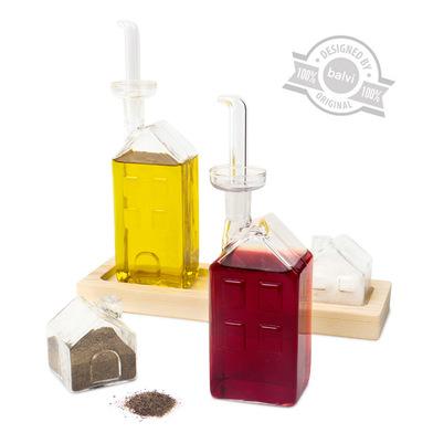 alvi Oil-vinegar-salt&pepper set La Ville Set Aceitera, and container cruet Salt and pepper - Wooden