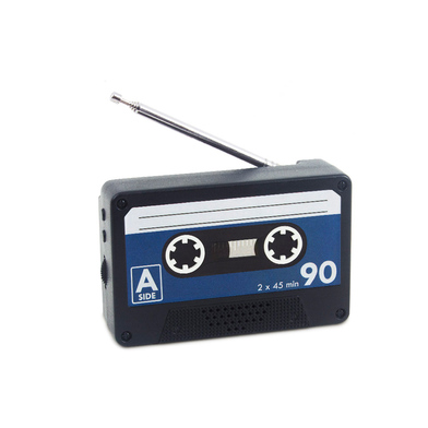 alvi Radio Play Black colour Shaped vintage cassette Portable Radio FM to place in the refrigerator