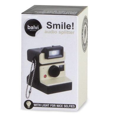 Balvi - Divisor de audio Smile! con luz 1xCR2032 incl