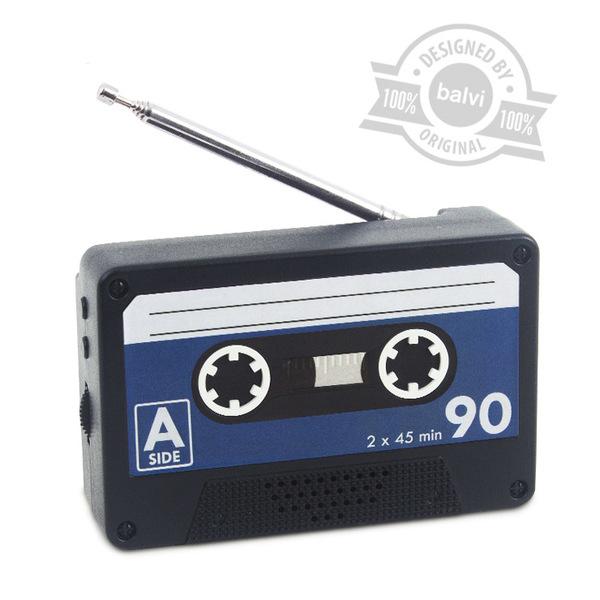 Balvi Radio Play Mini en forma de cassette Magnético 2xAA no incluidas