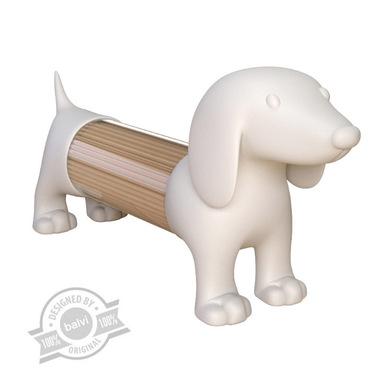 Balvi Palillero Teckel Color blanco Con forma de perro Acrílico/plástico PVC