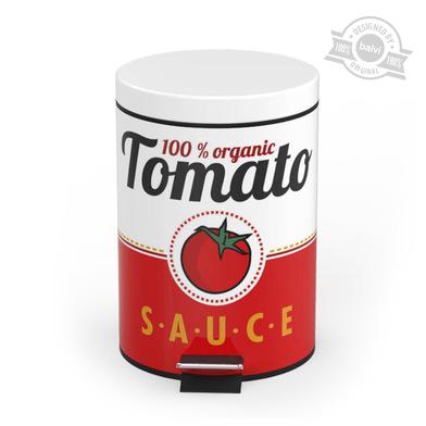 Balvi - Cubo basura Tomato Sauce 20 L metal