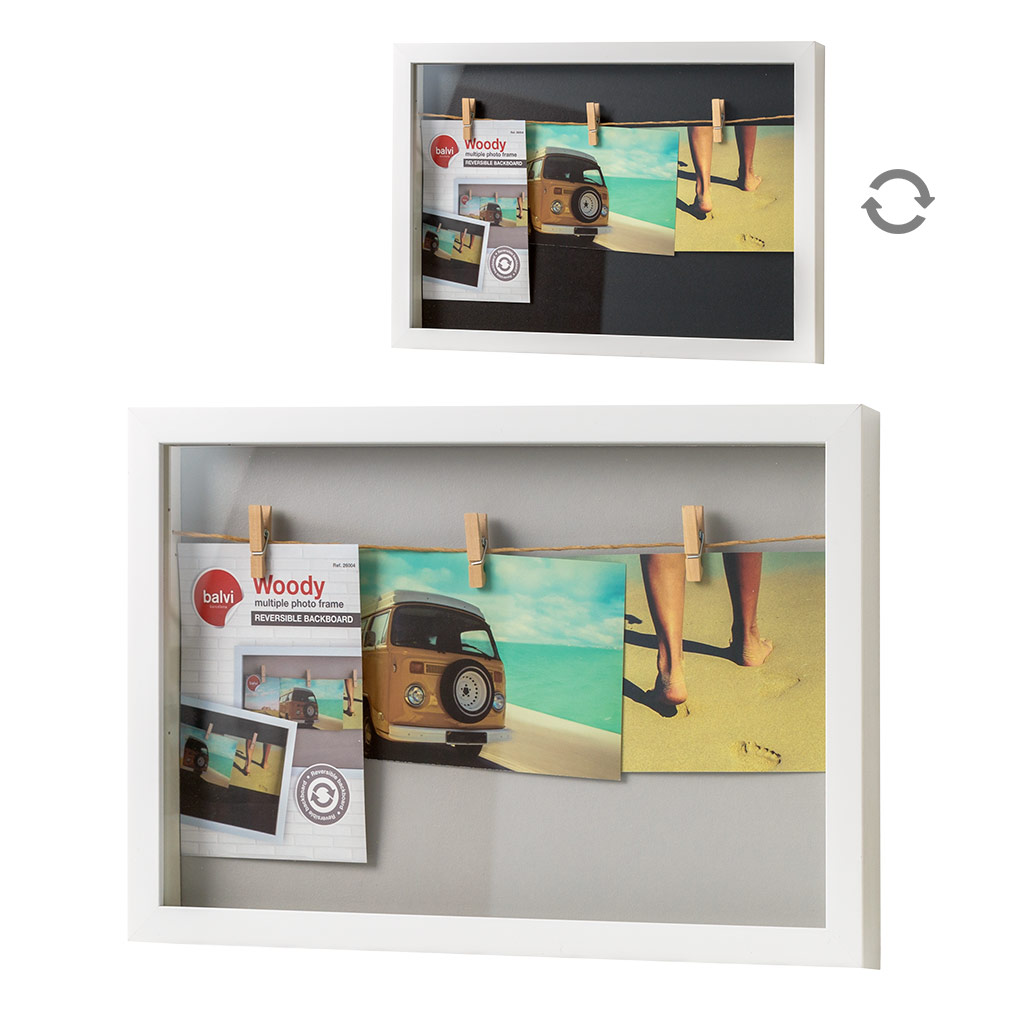 Balvi - marco Múltiple Woody X3 blanco | eBay