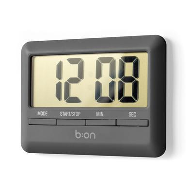 Balvi - Minuteur & horloge Combi numérique anthracite