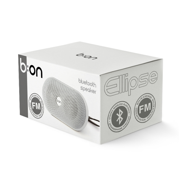 alvi Altavoz Bluetooth Elipse Color blanco Altavoz llavero bluetooth speaker portátil Radio portátil