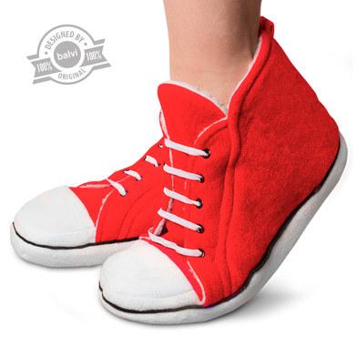 alvi Zapatillas Star High Color rojo zapatillas para andar por casa invierno Para hombre y mujer Cal