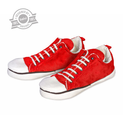 alvi Slippers Star Low Red colour homespun shoes winter For men and women Warm and comfortable, non-