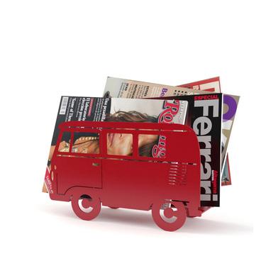 Balvi - Van revistero decorativo en forma de furgoneta retro