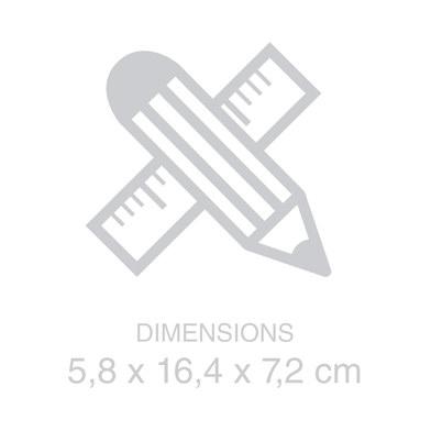 Balvi - Twin astuccio per occhiali e lenti a contatto, bianco con specchio incorporato