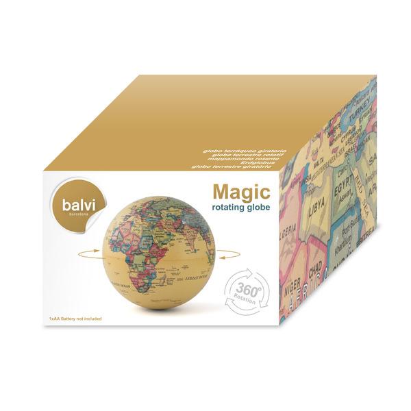 Balvi Globo terráqueo Magic Gira 360º Plástico PS 14cm